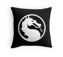 Mortal Kombat - White Logo Throw Pillow