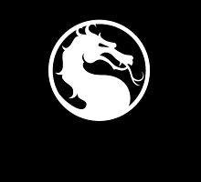 Mortal Kombat - White Logo by Magnate