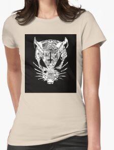 Black ZEF Graffiti Rat Womens Fitted T-Shirt