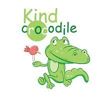 Kind crocodile. by Voron4ihina