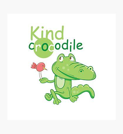 Kind crocodile. Photographic Print