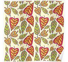 Foliage pattern Poster