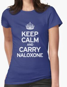 Carry Naloxone Womens Fitted T-Shirt