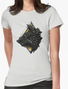Viking Wolf Head Womens Fitted T-Shirt