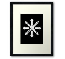 Mark of Chaos Distressed White Framed Print