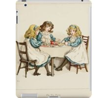 The April Baby's Book of Tunes by Elizabeth art Kate Greenaway 1900 0079 The Tea Party iPad Case/Skin