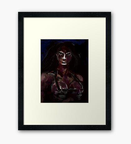 BLOOD DRENCHED Framed Print