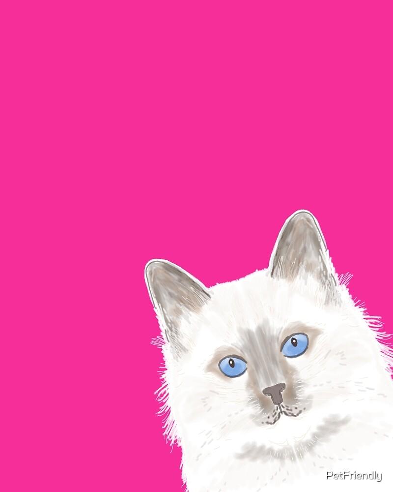 """""""Birmin Peeking cat cute funny cat gift for cat lady ..."""