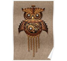 Steampunk Owl Vintage Style Poster