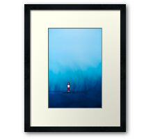 Blue Landscape Lighthouse Framed Print