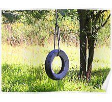 good morning tire swing Poster