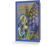 Friendly little flowers - birthday card Greeting Card