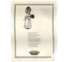 Under the Window Pictures and Rhymes for Children Edmund Evans and Kate Greenaway 1878 0020 Will You Be My Little Wife Poster