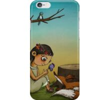 Contemplation (Fox and Girl) iPhone Case/Skin