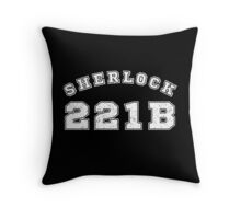 Sherlock 221b Throw Pillow