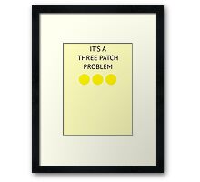 A Three Patch Problem Framed Print