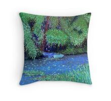 Monet's Lilypond-Giverny France Throw Pillow