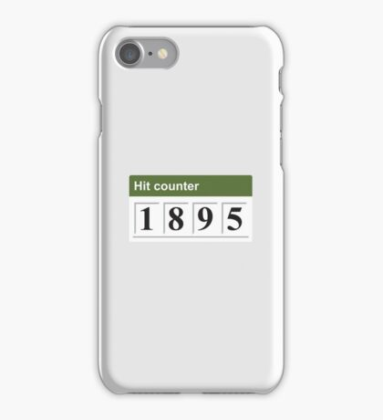 1895 Hit counter iPhone Case/Skin