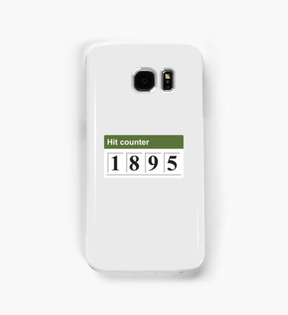 1895 Hit counter Samsung Galaxy Case/Skin
