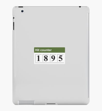 1895 Hit counter iPad Case/Skin