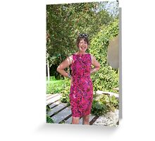 Ann Marie Powell at Hampton Court Palace flower show 2015 Greeting Card