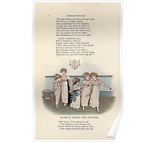LIttle Ann and Other Poems by Jane and Ann Taylor art Kate Greenaway 1883 0016 Frances Keeps Her Promise Poster
