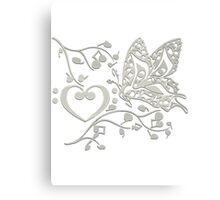 Butterfly_Notes Canvas Print