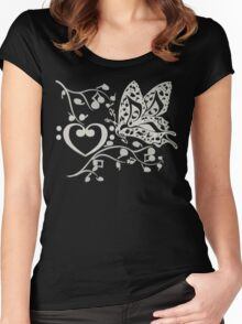 Butterfly_Notes Women's Fitted Scoop T-Shirt