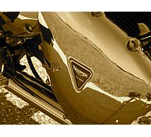 Triumph Bonneville T100: Primary Cover Photographic Print