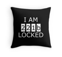 I am 221b locked Throw Pillow