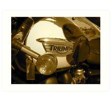 Triumph Bonneville T100: Gas Tank Art Print
