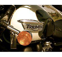 Triumph Bonneville T100: Gas Tank (Enhanced Colors) Photographic Print