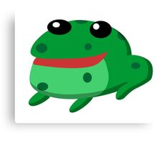 Froggy Fred Canvas Print