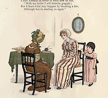 LIttle Ann and Other Poems by Jane and Ann Taylor art Kate Greenaway 1883 0015 Sophia's Fool's Cap by wetdryvac