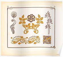 Maurice Verneuil Georges Auriol Alphonse Mucha Art Deco Nouveau Patterns Combinaisons Ornementalis 0054 Poster
