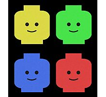 Lego Heads Photographic Print