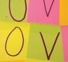LOVE in Post-it Notes Sticker