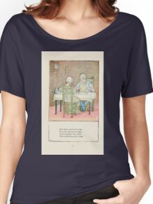 Mother Goose or the Old Nursery Rhymes by Kate Greenaway 1881 0021 Jack Sprat Women's Relaxed Fit T-Shirt