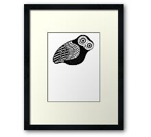 greek owl Framed Print