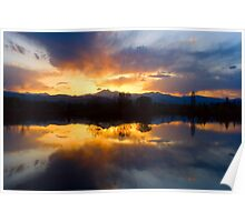 Colorado Sunset Reflection Poster