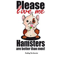 Pudding the Hamster - Please love me Photographic Print