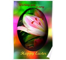 Happy Easter lily egg Poster