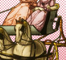 """""""Get in loser, we're going shopping"""" Ladies in a Carriage  Sticker"""