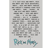 Rick and Morty Forever Photographic Print