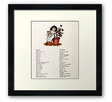 Language of Flowers Kate Greenaway 1884 0052 Descriptions of Specific Flower Significations Framed Print