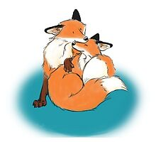 Foxy Cuddles by sillybadger