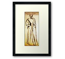 CLOTHED FIGURE DRAWING 25 Framed Print
