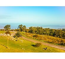 High View of Park and Coast in Montevideo Photographic Print
