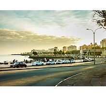 Montevideo Beach Urban View Photographic Print