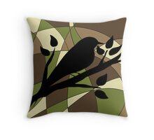 abstract-bird Throw Pillow